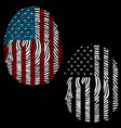 usa finger vector image vector image