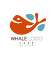 whale logo design creative badge can be used vector image vector image