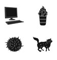 wool care cafe and other web icon in black style vector image vector image