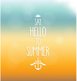 Say hello to summer poster vector image