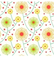 Simple floral pattern with bold flowers vector image
