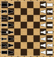 Chess board with figure vector image