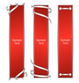 A set of three vertical banners red ribbons vector image vector image