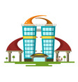 abstract modern flat design building vector image vector image