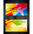 abstract style business card design vector image vector image