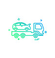 auto insurance car tow truck icon design vector image