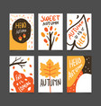autumn poster template collection vector image vector image
