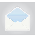 Blue white opened envelope vector image