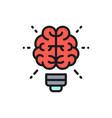 brain and light bulb innovation creative vector image
