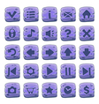 Buttons square purple vector image