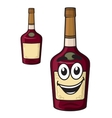 Cartoon smiling alcohol bottle