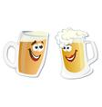 Cartoon smiling hero glass of beer vector image vector image