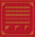 chinese border ornament vector image vector image