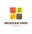 colorful mexican food logo Mexican vector image vector image
