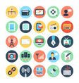 Communication Flat Icons 2 vector image vector image