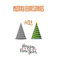 concept christmas trees modern flat style vector image vector image