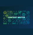 content writer colored line horizontal vector image