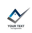 creative check home logo template real estate vector image