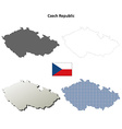 Czech Republic outline map set vector image vector image
