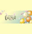 easter banner design vector image