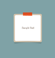 Empty note papers ready for your message vector image vector image