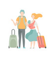 family travelling father mother and baby going vector image vector image