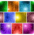 fireworks seamless pattern vector image vector image