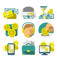 Flat Banking icons vector image