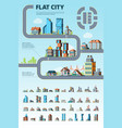 flat city infographic cityscape municipal vector image vector image