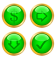 Green buttons for web vector image