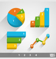 growth chart 3d vector image vector image