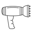 hair dryer icon outline style vector image