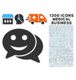 happy chat icon with 1300 medical business icons vector image vector image