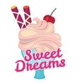 Ice cream dessert icon vector image