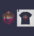 london t-shirt geometric design poster vector image vector image