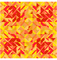 Mosaic yellow red square background vector image vector image