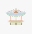 namsangol hanok village in vector image vector image
