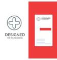 Plus sign hospital medical grey logo design and