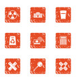 polymer icons set grunge style vector image vector image