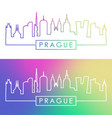 prague skyline colorful linear style editable vector image vector image