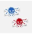realistic design element spider vector image vector image