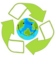 recycle green earth icon vector image