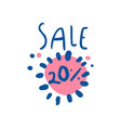 sale 20 percent off logo template special offer vector image