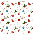 Seamless background pattern Merry Christmas vector image vector image
