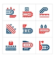 Set color icons of conveyor vector image vector image
