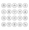 set round line icons of farming and agriculture vector image vector image