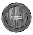 sewing button of the lines vector image
