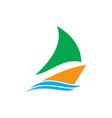 ship wave icon logo vector image
