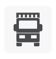 shipping icon black vector image vector image