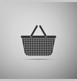 shopping basket icon isolated on grey background vector image vector image